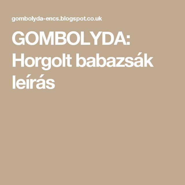GOMBOLYDA: Horgolt babazsák leírás