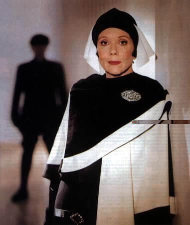 Dame Diana Rigg in 'The Mrs. Bradley Mysteries'. series.