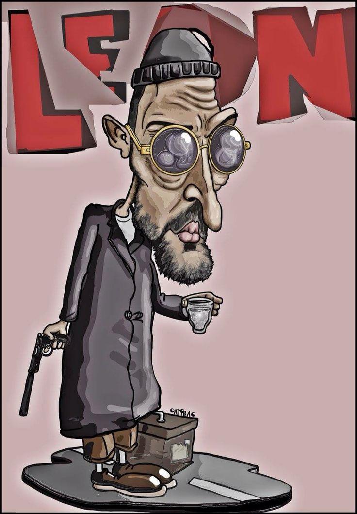 Leon #jeanreno #leon #caricature #cartoon #drawing #art #artist #illustration