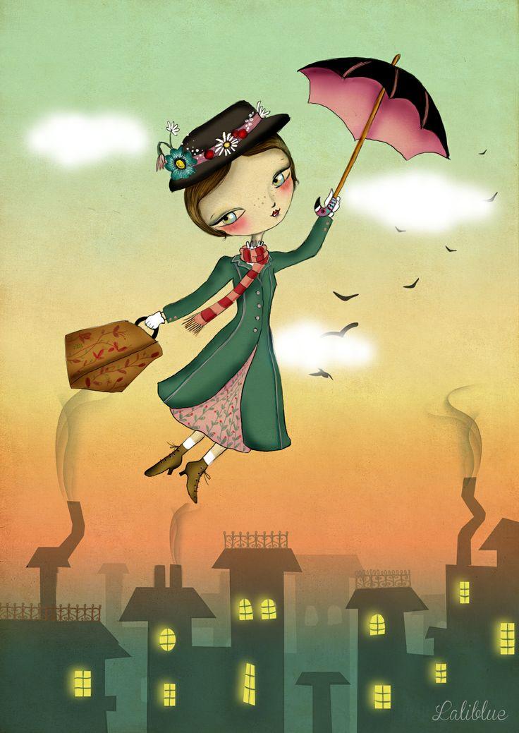Mary Poppins. Laliblue #marypoppins #laliblue #illustration