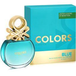 Benetton Perfume Feminino Colors Blue EDT 50ml - Incolor