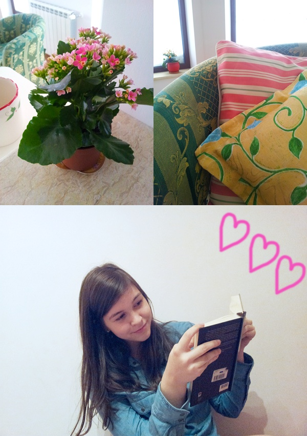 My home and a good book <3