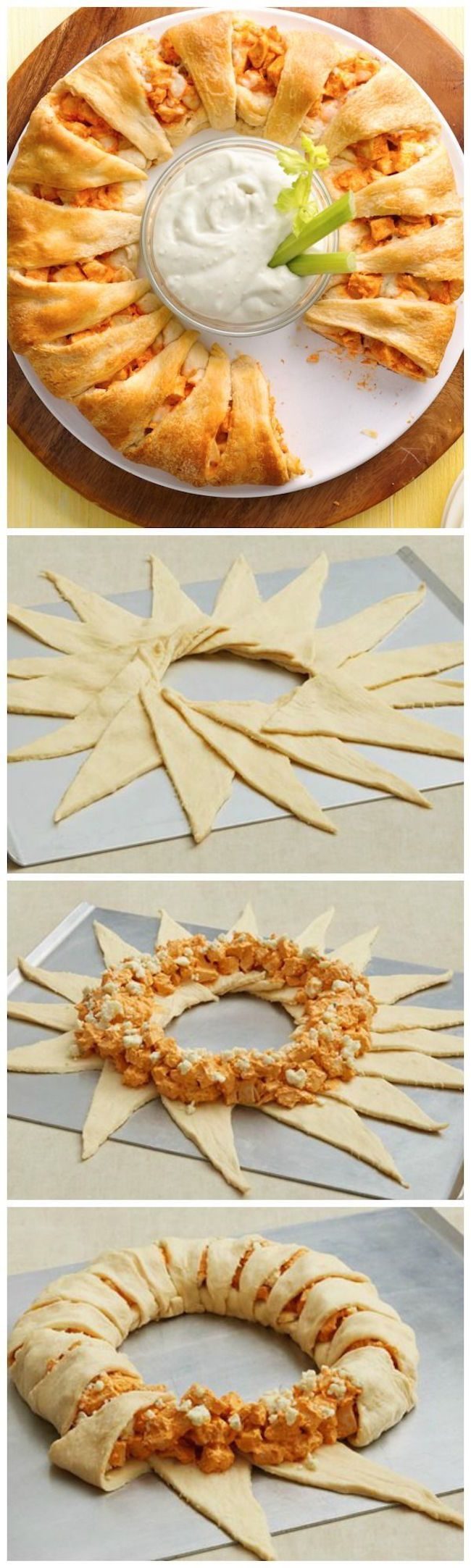 This buffalo chicken crescent ring is easy to make and even easier to share!