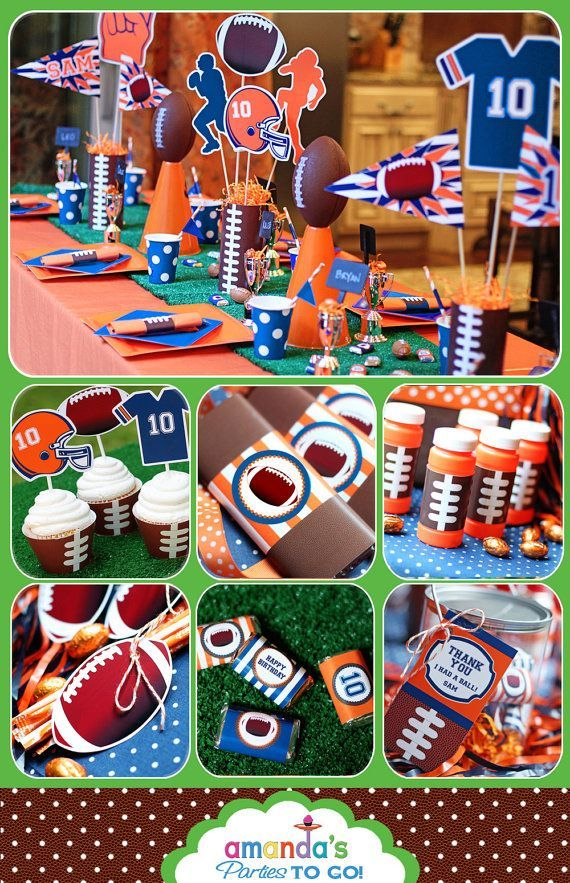 Football Party – New Football Birthday Printable Set – CHOOSE your Team and Colors – by Amandas Parties TO GO