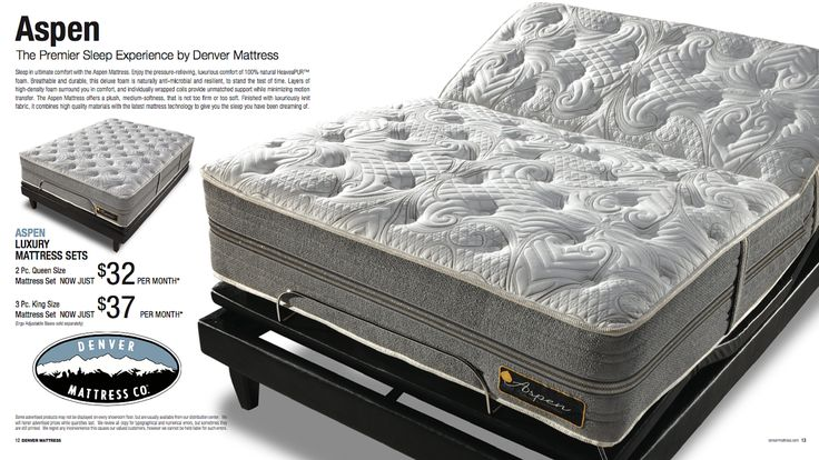 sleep in ultimate comfort with the aspen luxury mattress from denver mattress sale pricing and finance offers good through only