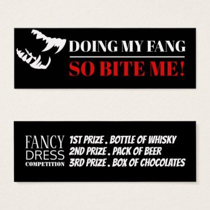 White Fangs Fancy Dress Competition Tickets - Halloween happyhalloween festival party holiday