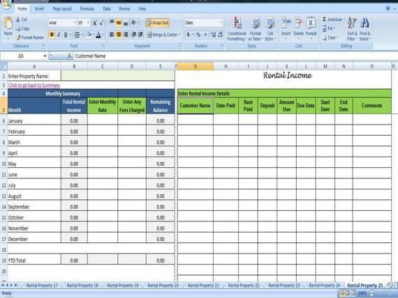 Tenant Payment Record Rental Payment Record Template 25 Properties Rental Property Management Printable Check Register Rental