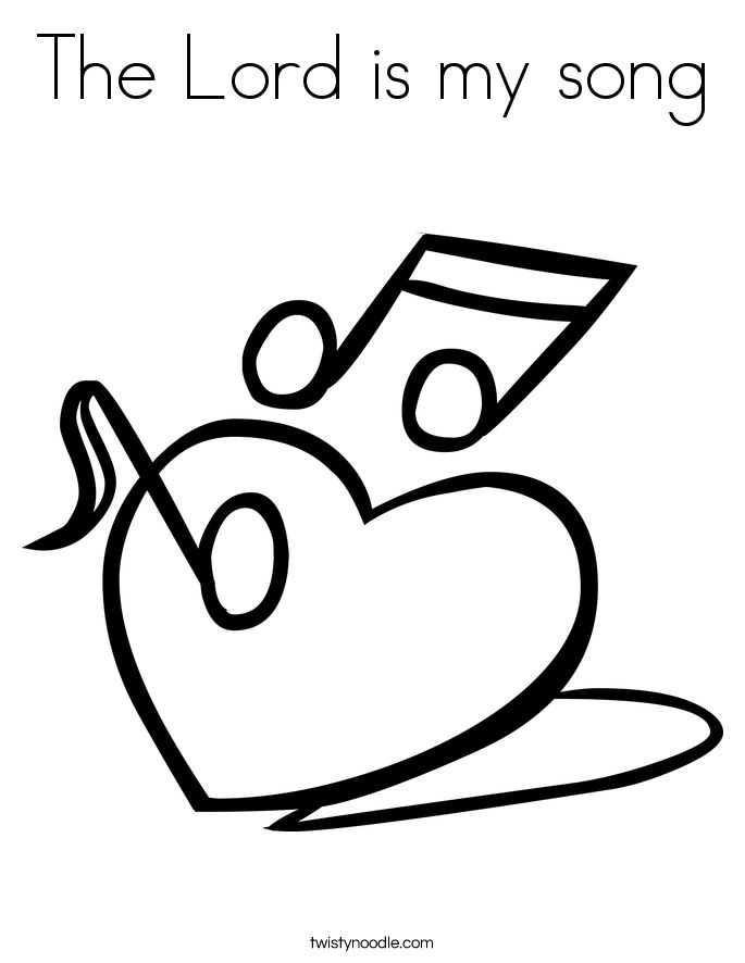 God Is My Song Coloring Page