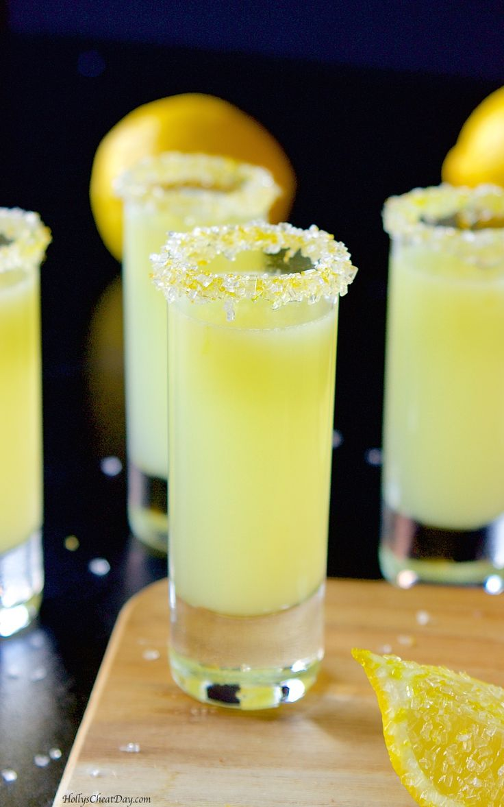Vodka lemon drop shots | HollysCheatDay.com