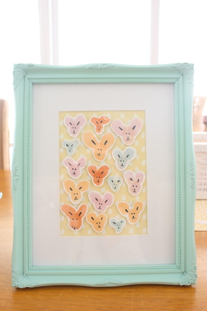 Easter Craft with the kids, bunnies made from thumbprints