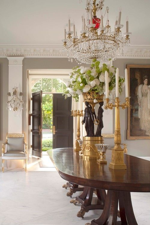 A Walnut Table By Carl Akins In The Sterling Gray Dining Room Beyond Entry Features Pecan Inlay Many Pieces Houston Residence Are Commissioned