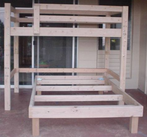 how to build a full size loft bed frame