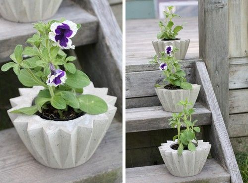 18 best my concrete crafts images on pinterest concrete crafts flower pot in concrete photo from ellasinspiration diy solutioingenieria