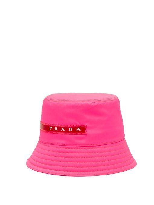 7063764a Prada Linea Rossa-logo bucket hat | linea rossa in 2019 | Fashion ...