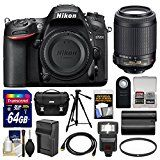 #7: Nikon D7200 Wi-Fi Digital SLR Camera Body with 55-200mm VR II Lens  64GB Card  Case  Flash  Battery/Charger  Tripod  Kit
