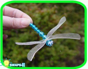 Dragonflies (Blue) Scout SWAPS Girl Craft Kit - SWAPS4less