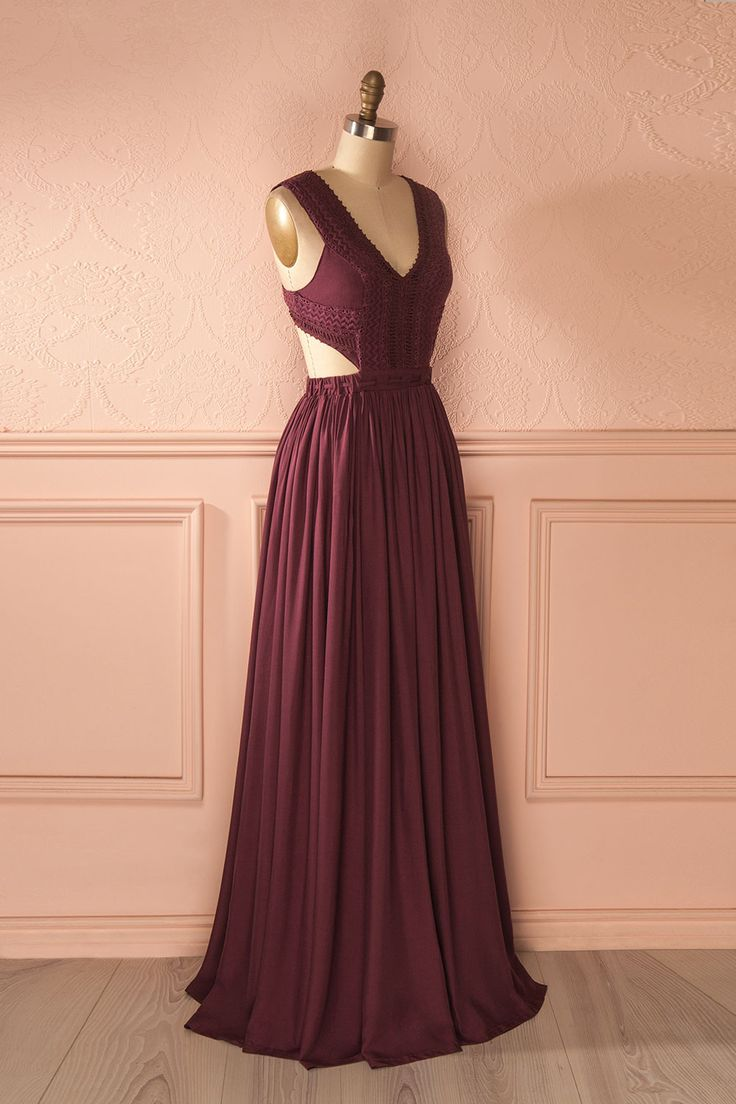 25 best ideas about burgundy maxi dress on pinterest burgundy dress long dresses and formal - Dressing ouvert ...