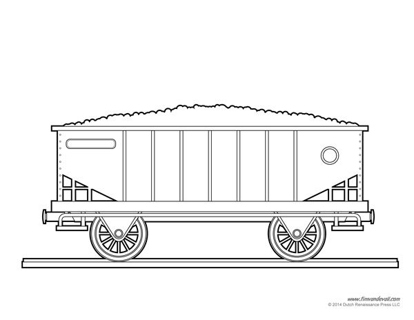 railroad freight cars coloring pages - photo#19