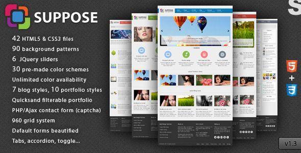 Suppose - Premium HTML5 Theme