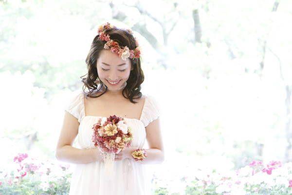 新郎新婦様からのメール アンティークと花 日比谷パレス様へ : 一会 ウエディングの花