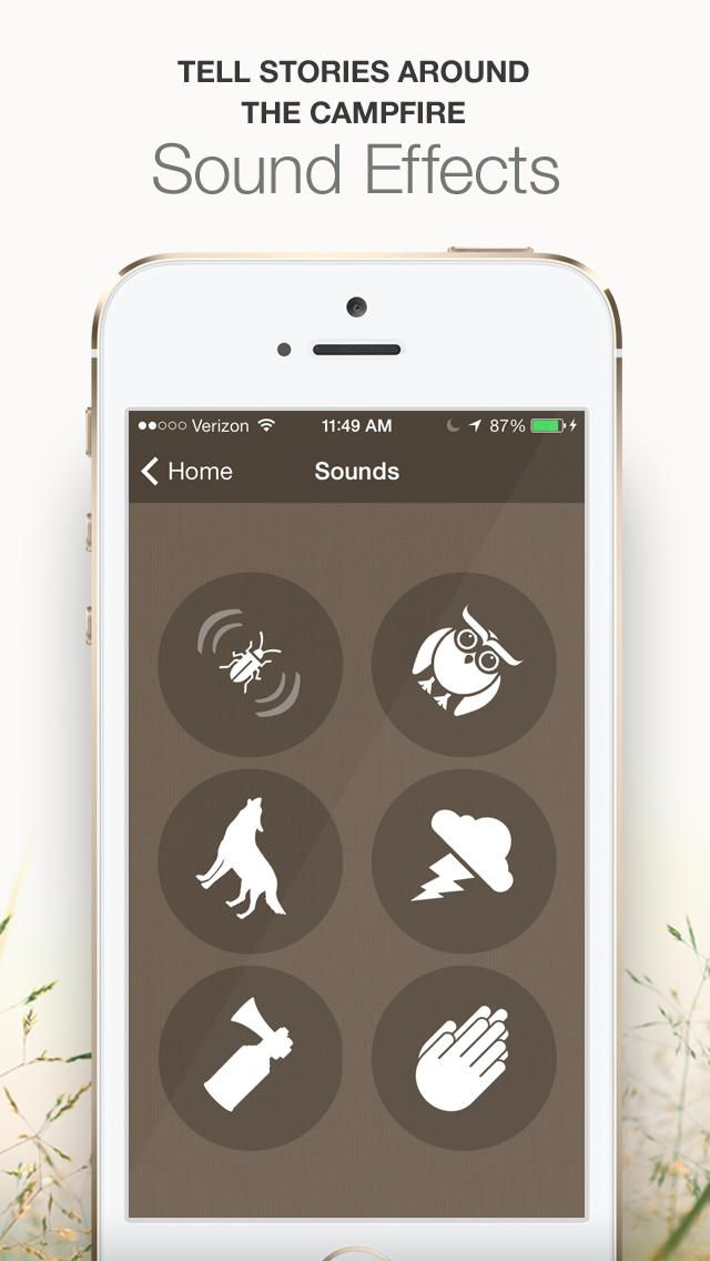 Six useful tools for your next outdoor adventure. Happy Camping features a flashlight, compass, checklist, strobe light, level and sound effects all within one app.