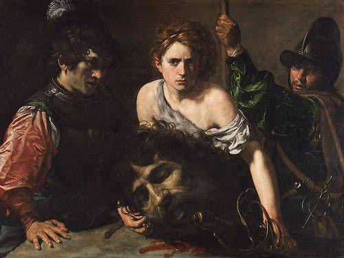 Ο Δαβίδ με το κεφάλι του Γολιάθ και δύο στρατιώτες - 1620-22