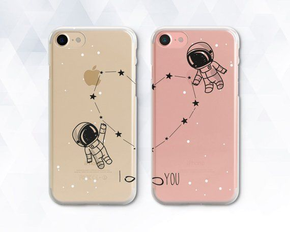 BFF Floral Heart Couple Cover For IPhone X 8 5 5S XR XS Max 6 6S 7