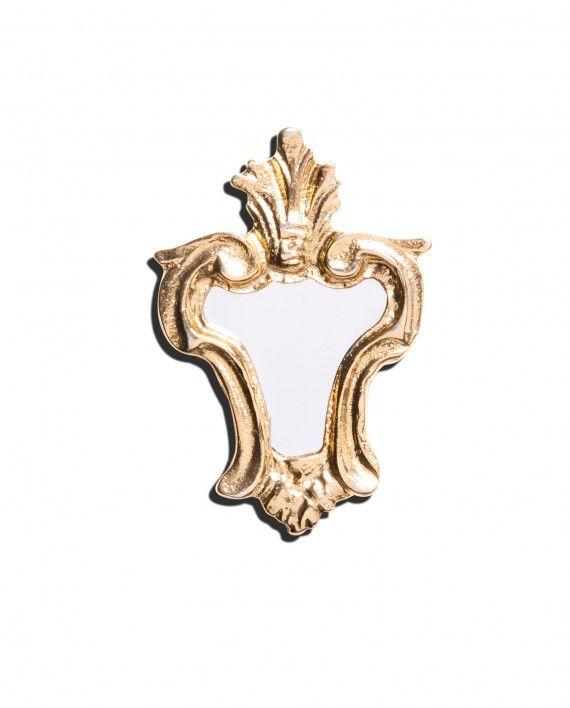 Vintage Ugo Correani mirror pin, c. 1980