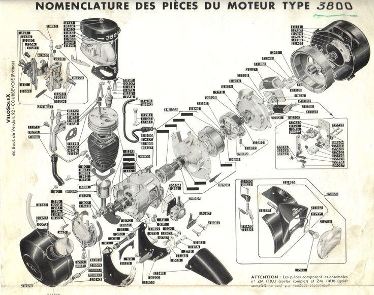 Velosolex 3800 motorplanche .. Moteur 3800 éclaté #velosolex #moped #knallerter