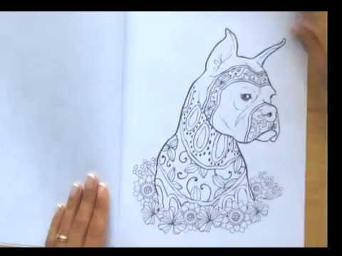 Dog Lovers Adult Coloring Book Flip Through Get It On Amazon Amznto