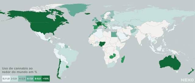 Uso da cannabis no mundo O consumo de maconha no mundo em um mapa