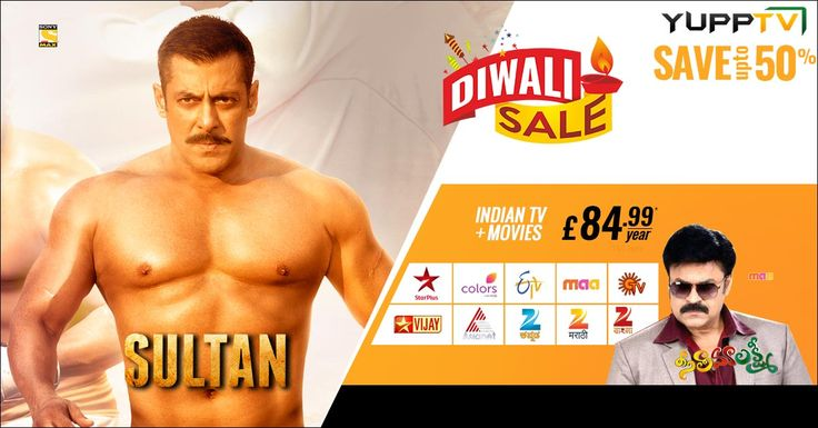 #diwalioffer for UK viewers on Indian TV and movies by saving up to 50%
