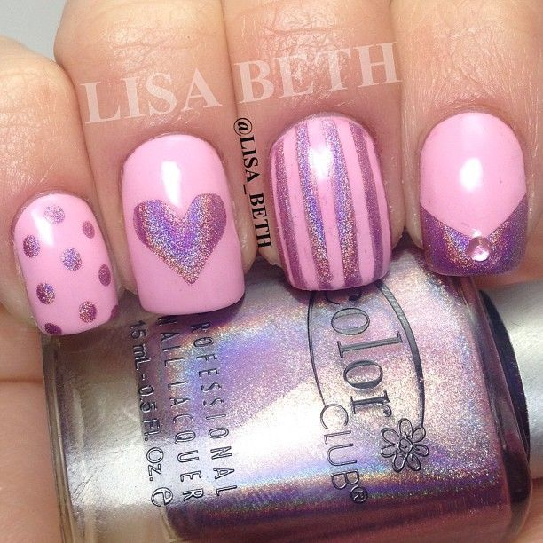 Wet N Wild - Tickled Pink with Color Club - Halo-Graphic // Halo Hues Collection.  @lisa_beth