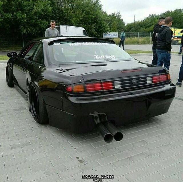 #Nissan #Silvia #S14 #Kouki #Zenki #Modified #Wide_Body #Slammed #Stance #JDM