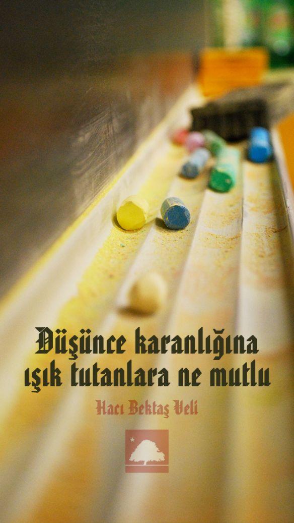 Hacı Bektaş Veli : Düşünce karanlığına ışık tutanlara ne mutlu... Anadolu Çınarları poster