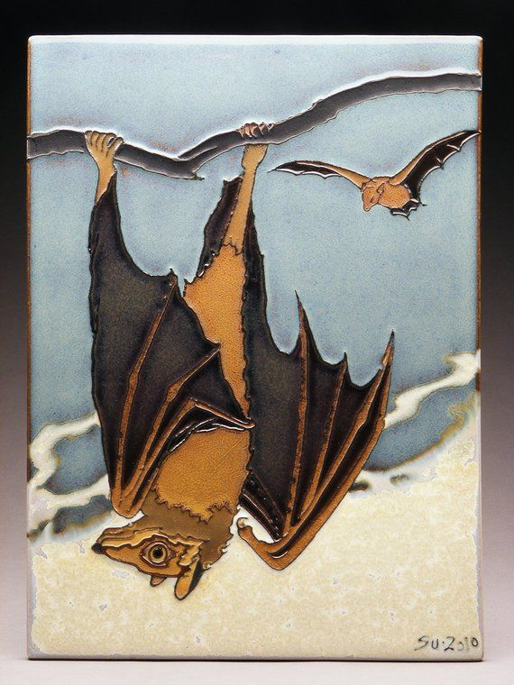 The Bat Ceramic Wall Tiles