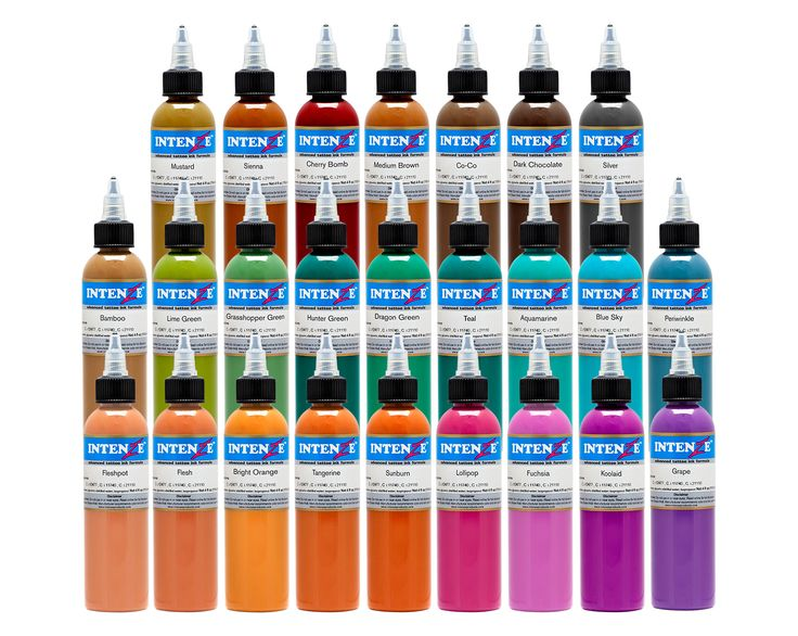 Our 25 color tattoo ink set has an excellent selection for Grasshopper tattoo supply