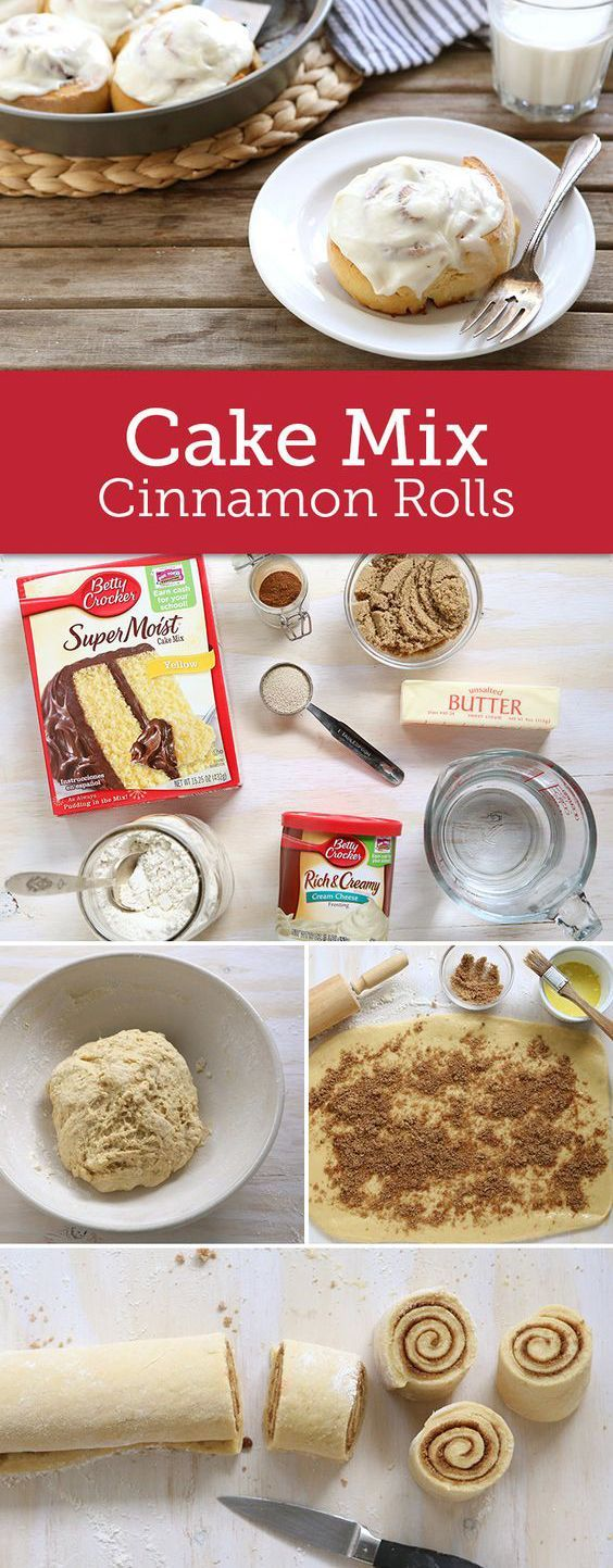Cake Mix Cinnamon Rolls - Recipes - Cooking Tip Of The Day