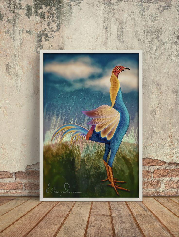 Poster ave fantasía. Enrique Parra