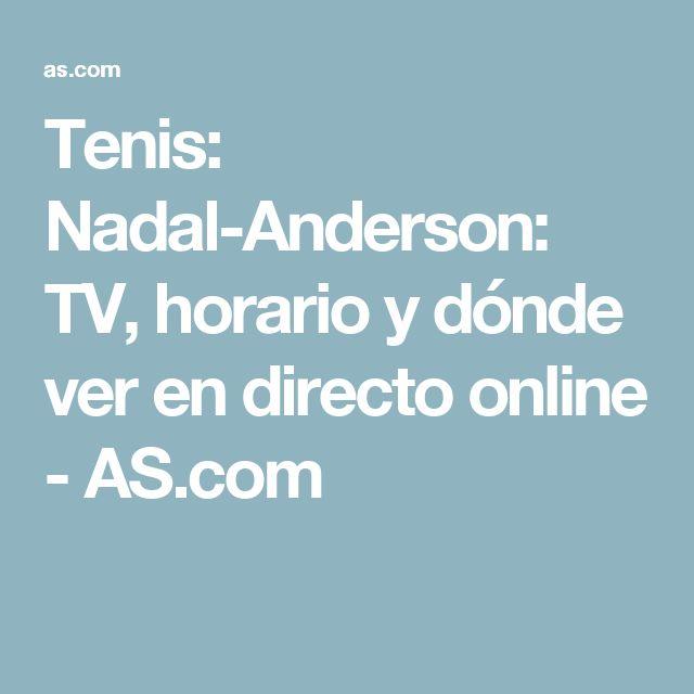 Tenis: Nadal-Anderson: TV, horario y dónde ver en directo online - AS.com