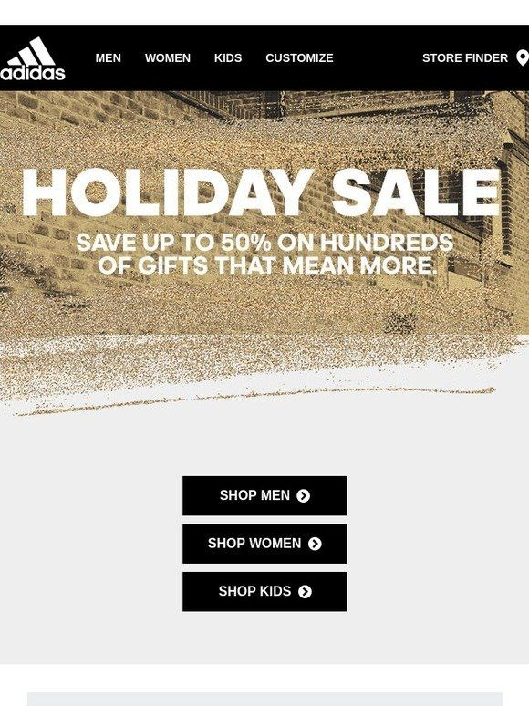 daño tinción Verdulero  Holiday Sale: Up to 50% Off - Adidas   Holiday sales, Christmas newsletter,  Sale
