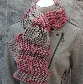 A little rebel at heart, this scarf brings lace and aran weight yarn together!