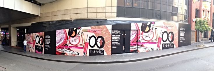 External Hoarding Cover Display - MECCA MAXIMA NSW