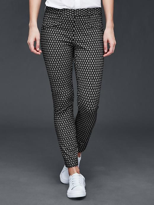 """Bi-stretch skinny ankle pants - Night-out. Pair with a metallic pump and a fluid cami.<br><br>These pants were made by women that participate in <a href=""""http://www.gap.com/pace""""> P.A.C.E. </a>, our education program that gives women the skills and confidence to change their lives."""
