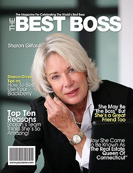 "Create a magazine cover with your boss on it, ""Best Boss Magazine"" ... Can print at home or have it sent to you - Bosses day is October 16th!"