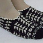 Örgü siyah beyaz patik #crochet #knit #knitting #woman #handmade #örgü