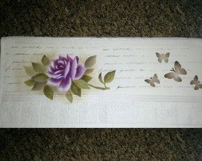 Toalha de Rosto pintada a mão