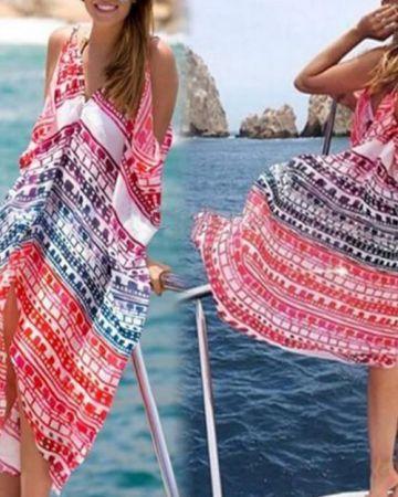 dress-φόρεμα-παρεό-καφτάνι-πολύχρωμο-παραλία-μαγιό-swimwear-colourful-beach