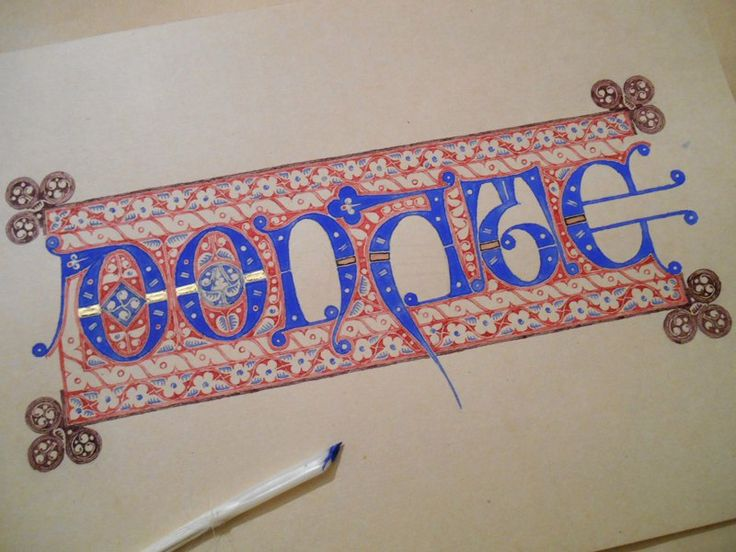112 Best Medieval Calligraphy Images On Pinterest