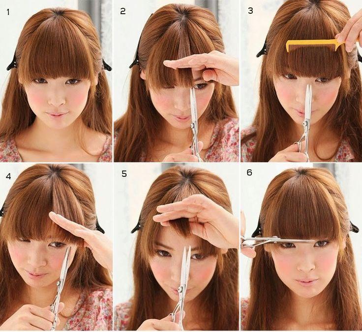 Diy Straight Bangs Hairstyles Pinterest Straight